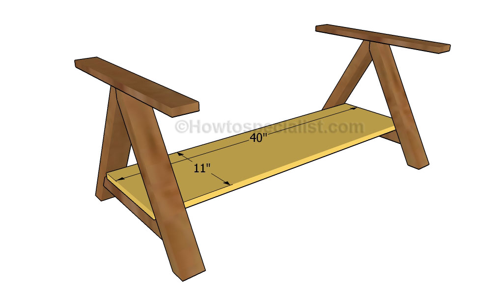 How to make a coffee table howtospecialist how to for Table th bottom