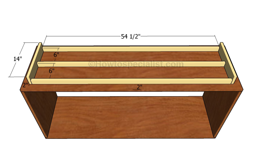 Buffet table plans howtospecialist how to build step for Table th bottom