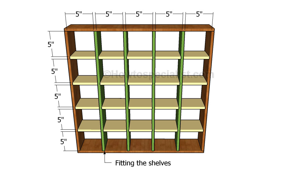 Wood Bookcase Plans | HowToSpecialist - How to Build, Step by Step DIY ...