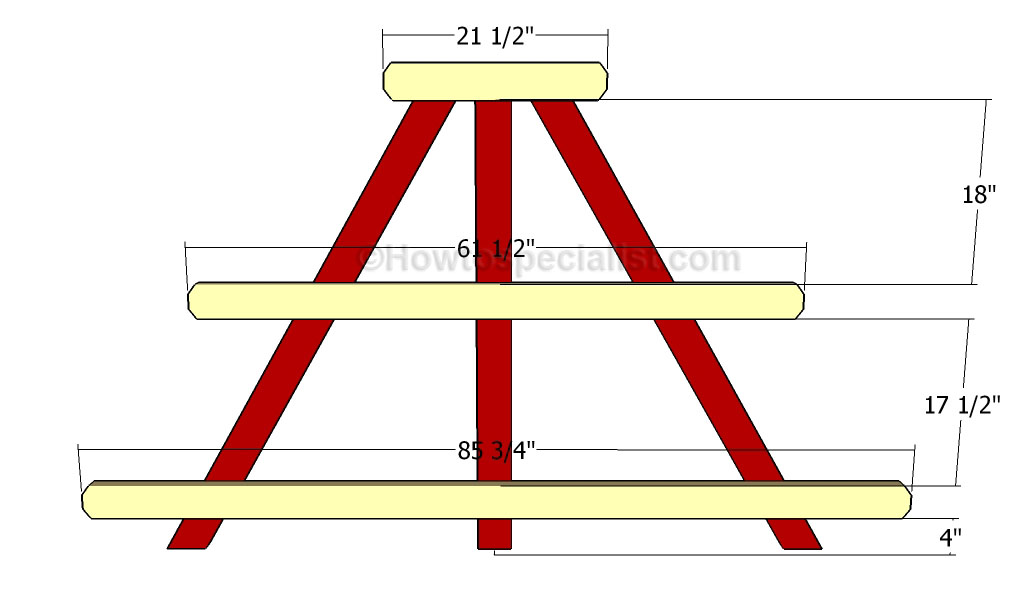 A-frame plant stand plans | HowToSpecialist - How to Build, Step by ...