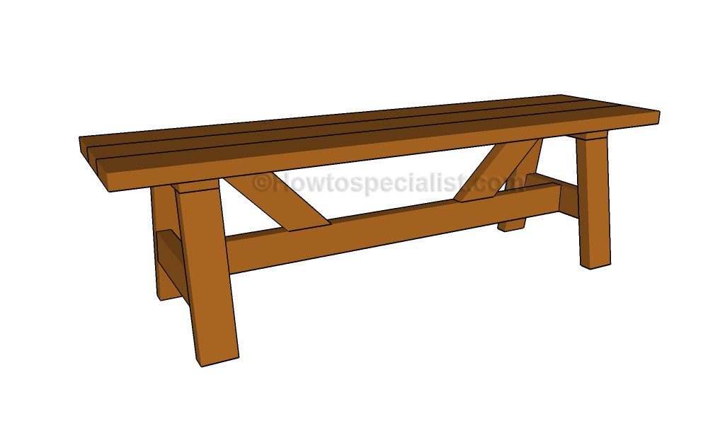 ... Bench Plans | HowToSpecialist - How to Build, Step by Step DIY Plans