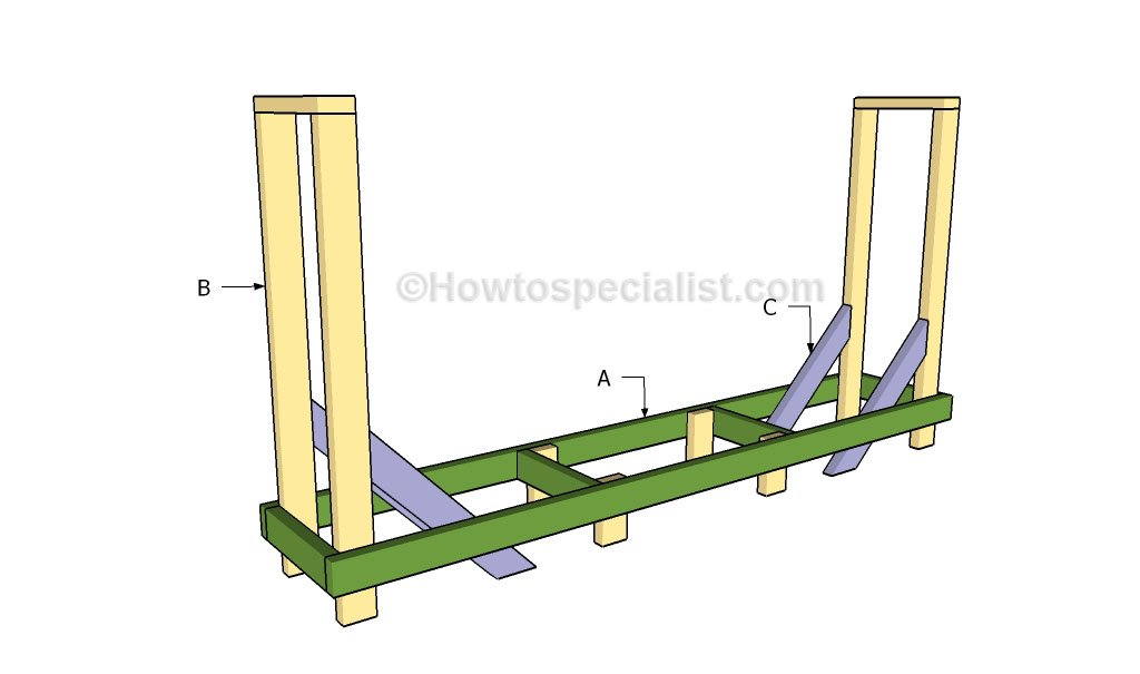 Pics Photos - Details About Firewood Storage Rack Building Plans