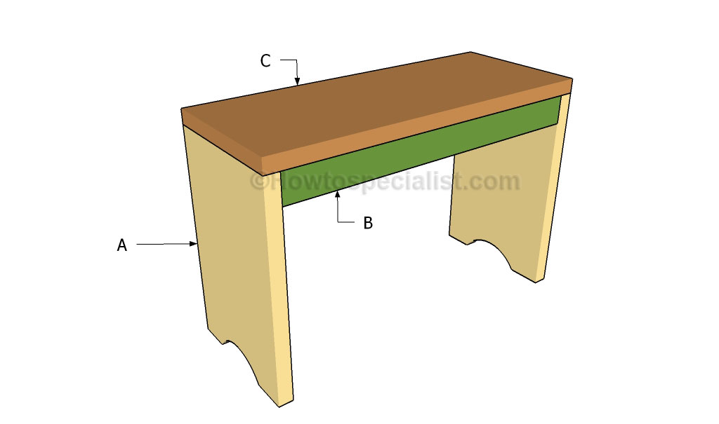 ... simple bench | HowToSpecialist - How to Build, Step by Step DIY Plans