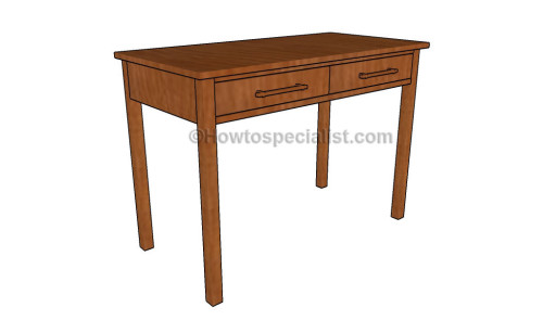 Computer desk plans | HowToSpecialist - How to Build, Step by Step DIY