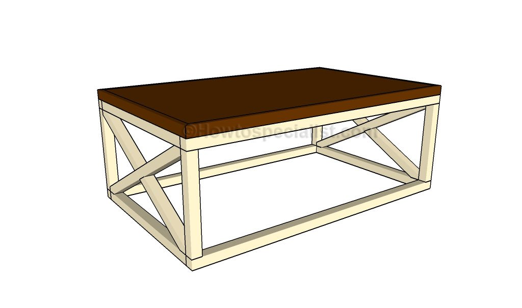 rustic coffee table plans howtospecialist how to build
