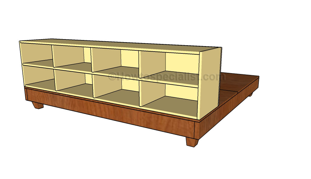 Plans For Queen Bed Frame With Drawers - House Design And Decorating ...