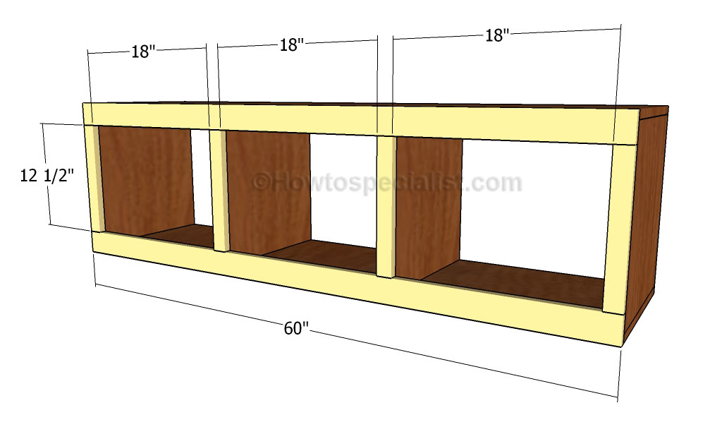 Mudroom Bench Plans | HowToSpecialist - How to Build, Step ...