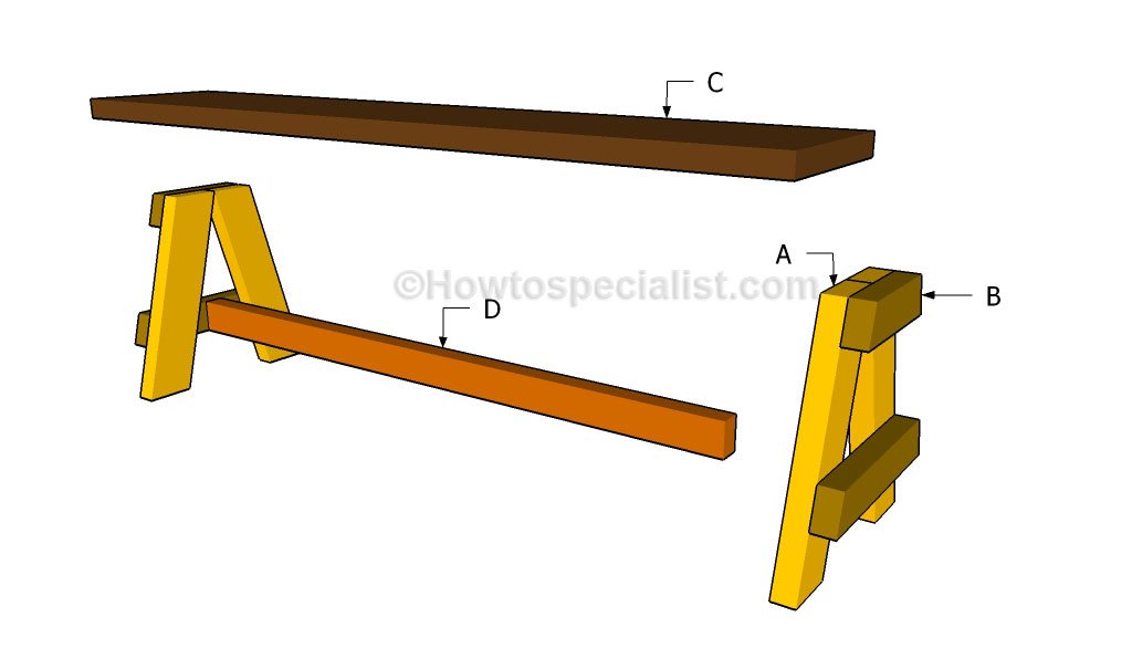 ... bench seat | HowToSpecialist - How to Build, Step by Step DIY Plans