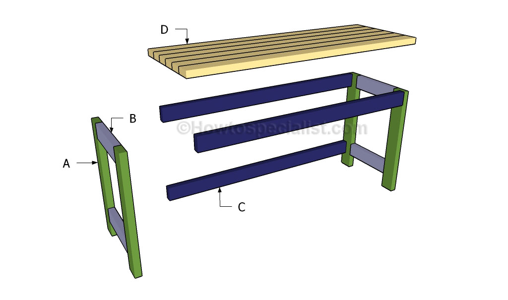 Desk building plans | HowToSpecialist - How to Build, Step by Step DIY ...