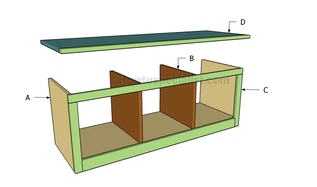 Hall Tree Bench Plans | HowToSpecialist - How to Build, Step by Step ...