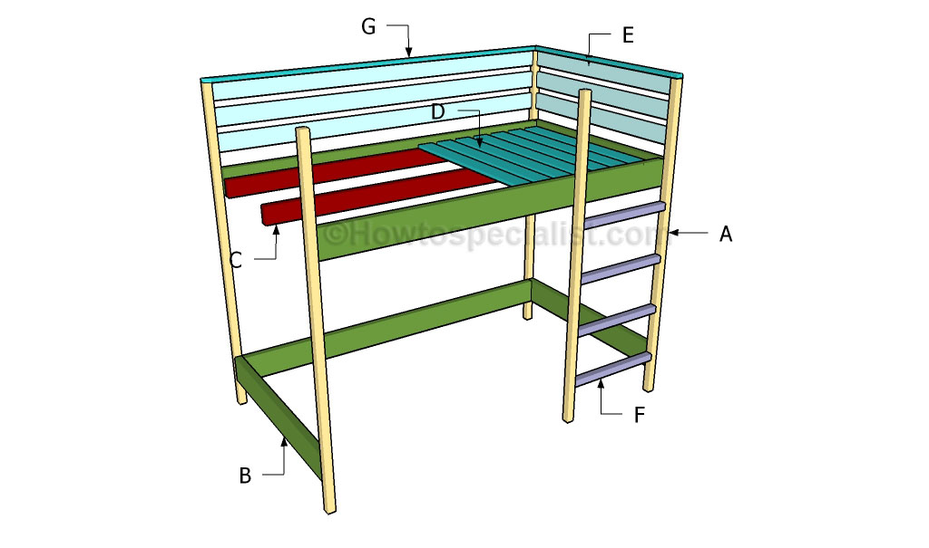 how to build a loft bed howtospecialist how to build