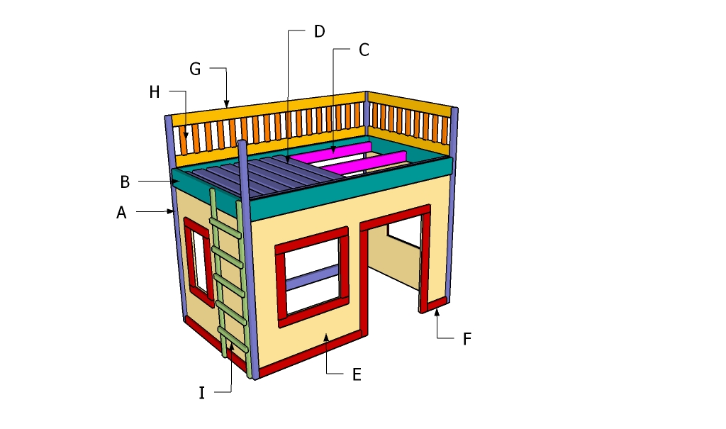 Playhouse Loft Bed Plans Howtospecialist How To Build
