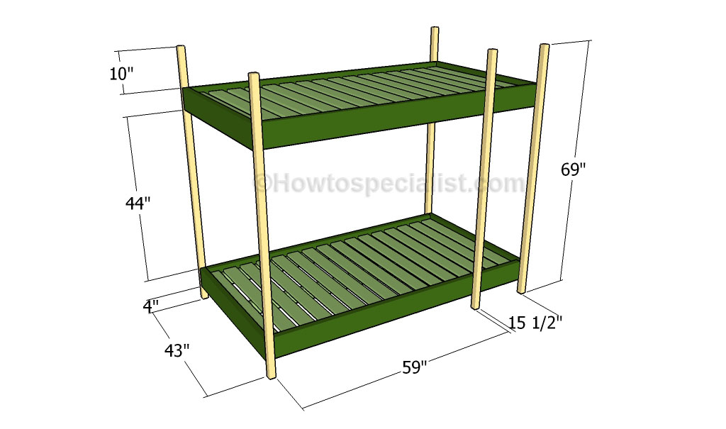 Fancy Building the frame of the triple bunk bed