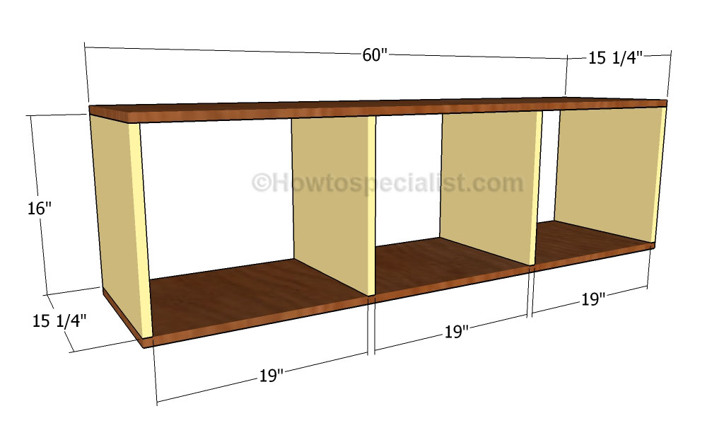 Mudroom bench plans howtospecialist how to build step for House plans with mudroom