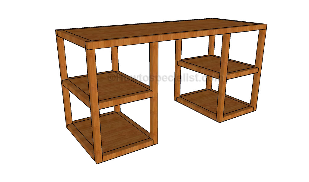 Desk woodworking plans