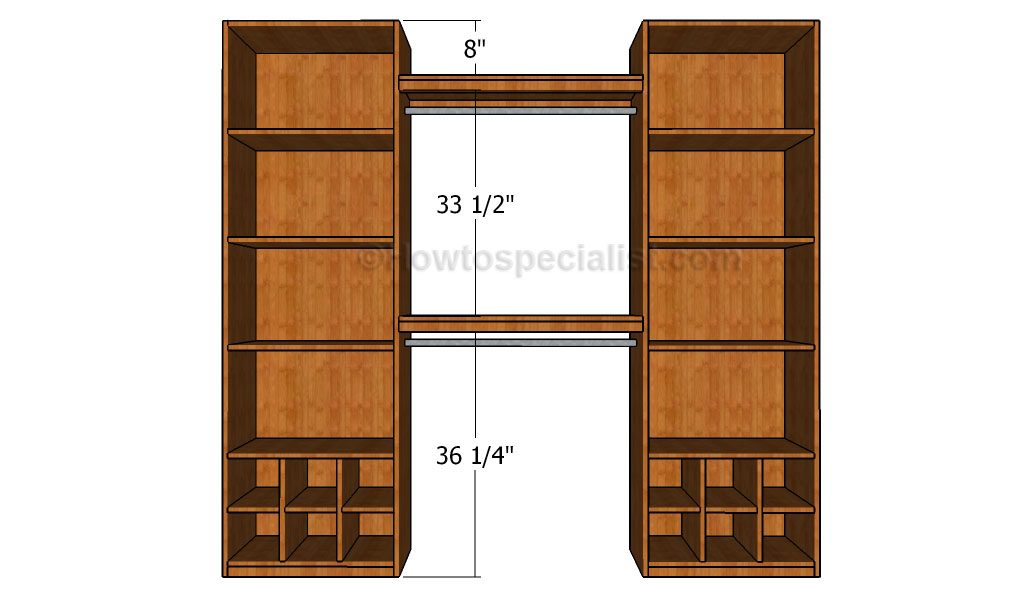 How To Build A Closet Organizer Howtospecialist How To Build Step By Step Diy Plans