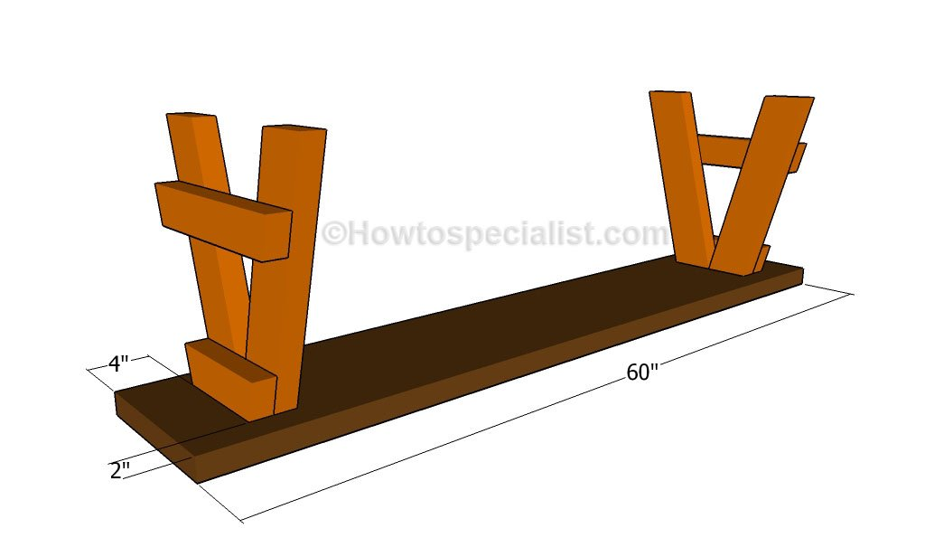 how to build a bench seat howtospecialist how to build step by step diy plans. Black Bedroom Furniture Sets. Home Design Ideas