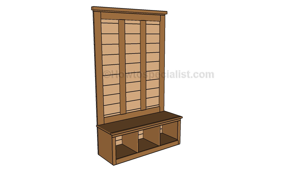 Free woodworking plans hall tree with model styles in for Hall woodwork designs