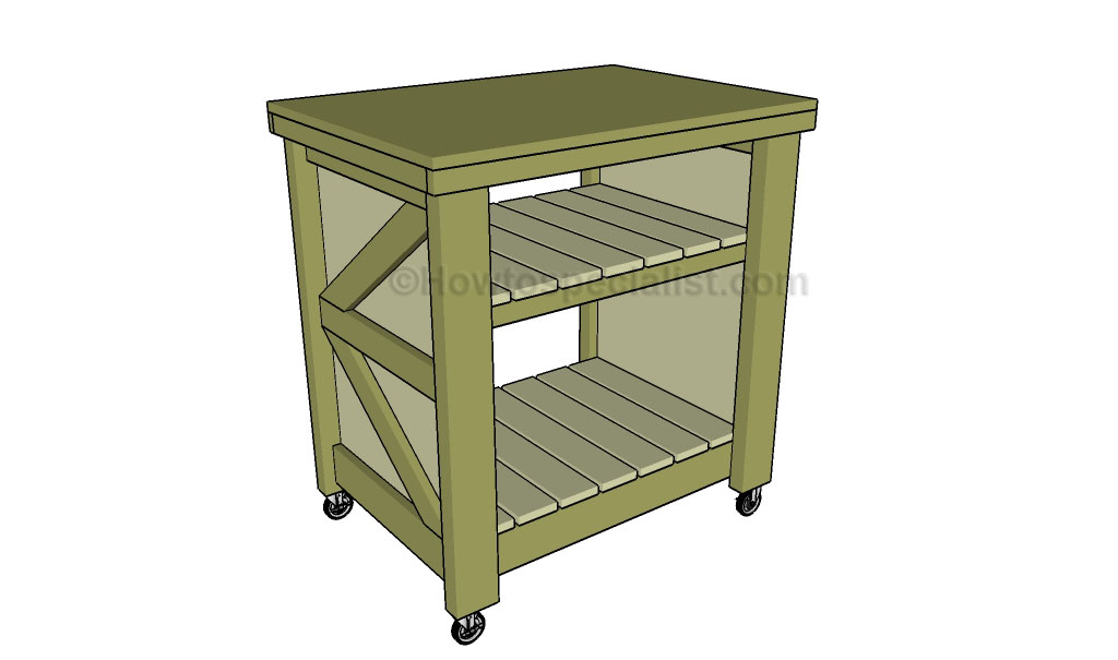 How to build a small kitchen island
