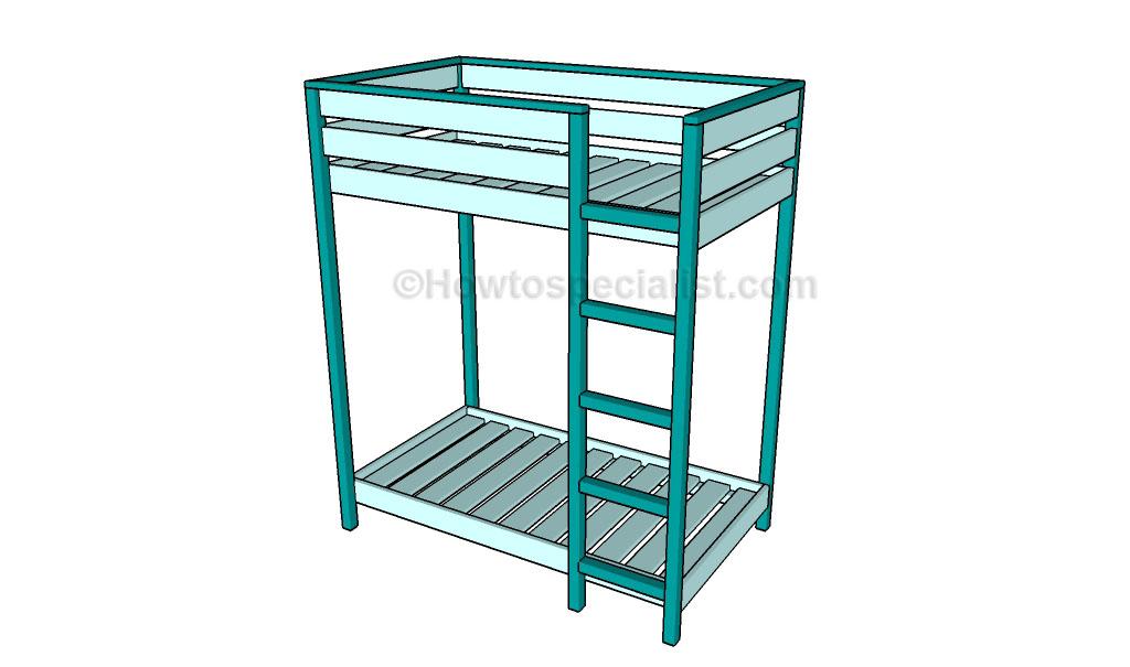 Toddler bunk bed plans