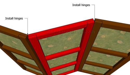 Assembling the room divider
