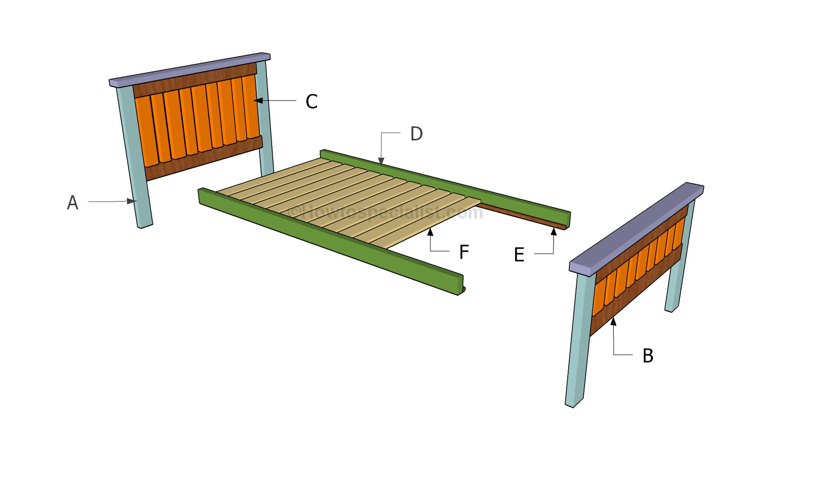 Building the 2x4 bed