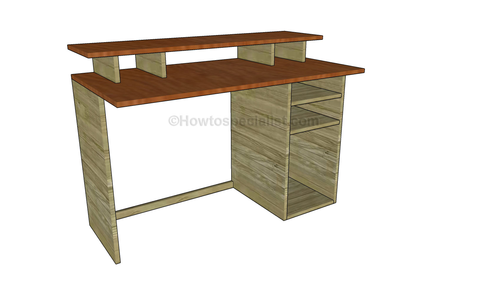 Build A Desk Plans Free | Beginner Woodworking Project