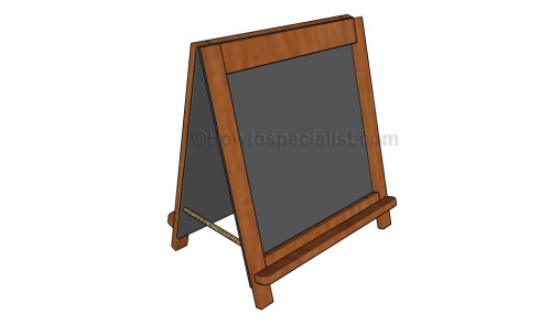 How to build a folding chalboard easel