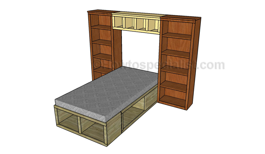 Twin bed hutch plans