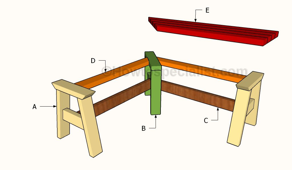 How to build a corner bench howtospecialist how to for Breakfast nook building plans