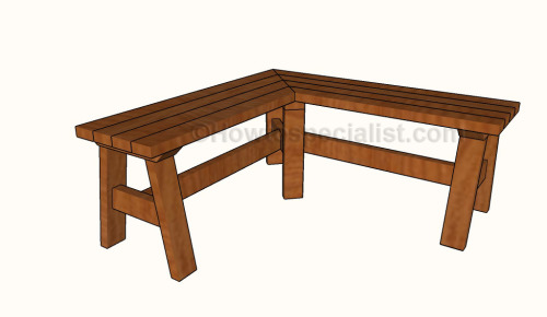 How to build a corner bench