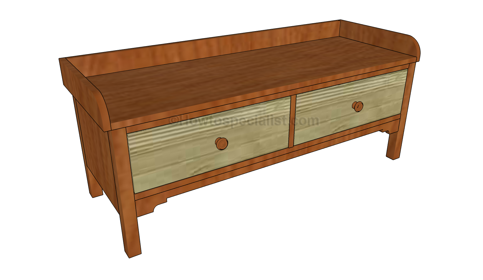 Foyer Furniture Plans : How to build a mudroom bench howtospecialist