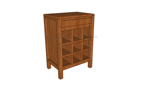 Wine cabinet plans