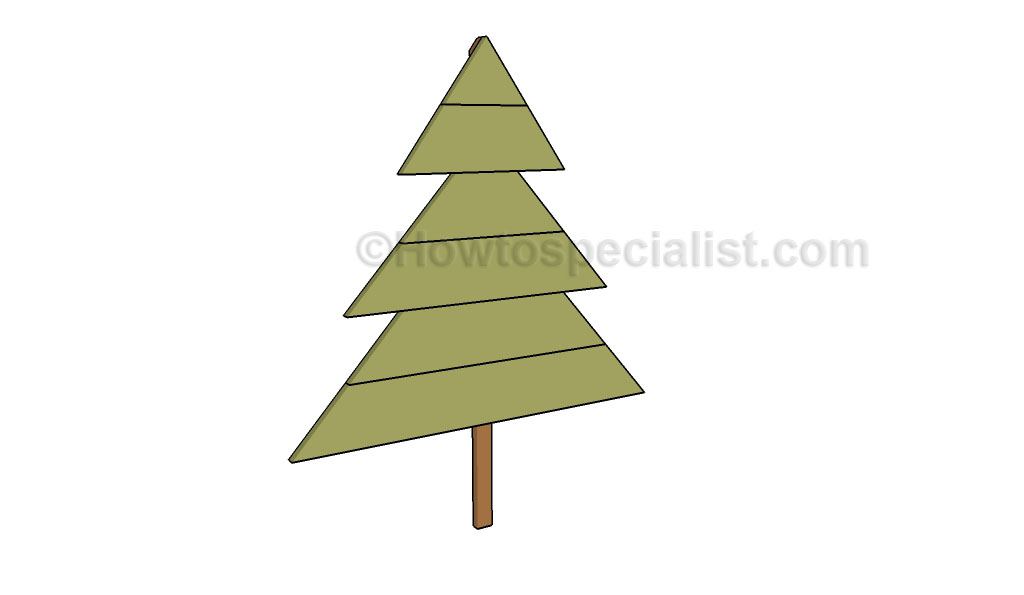 Useful wood christmas tree stand plans you here for Tree stand building plans