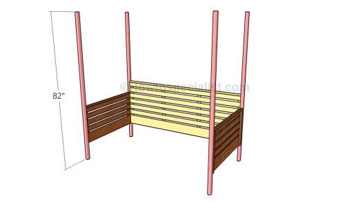 Assembling the daybed