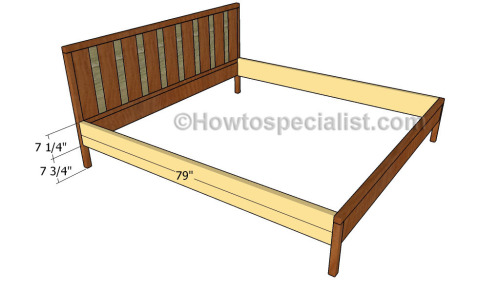 Great Assembling the frame of the bed