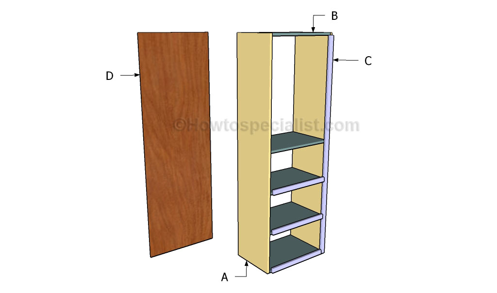 Closet tower plans howtospecialist how to build step for How to build a walk in closet step by step