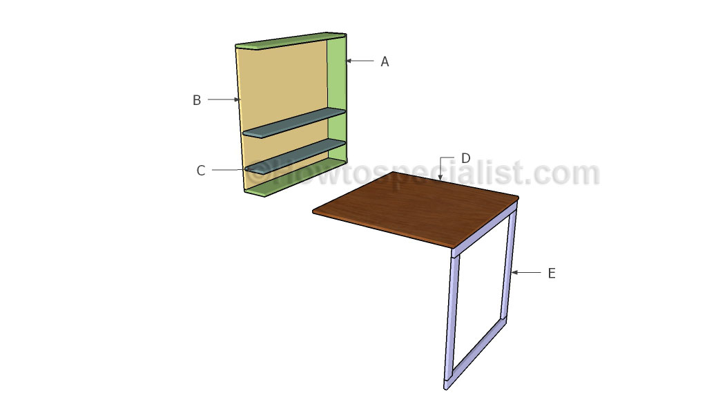 How to build a drop down desk
