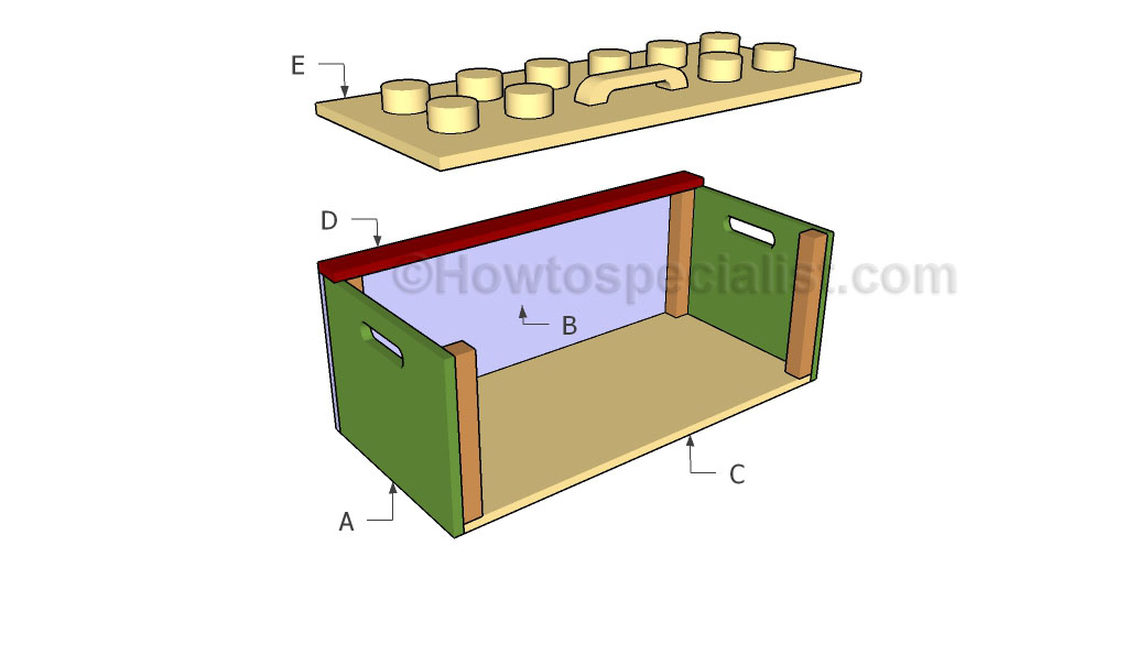 Toy box plans howtospecialist how to build step by for How to build box steps