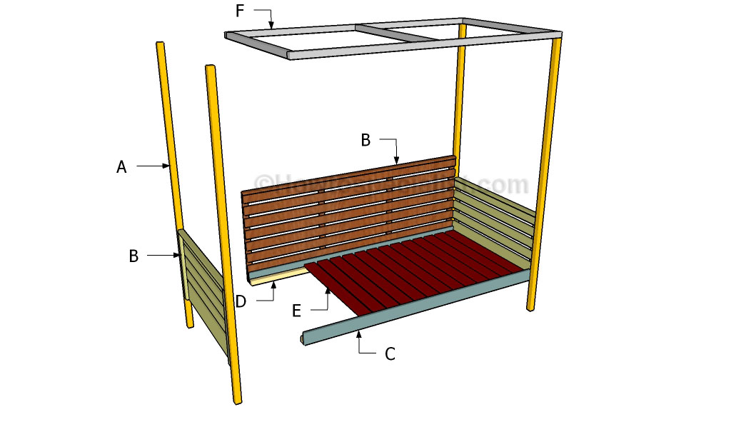 Building an outdoor daybed