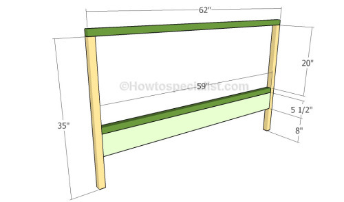 Building the frame of the headboard