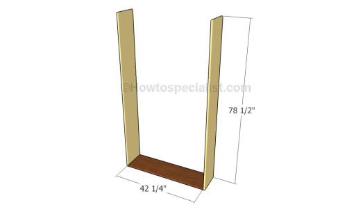 Building the murphy bed support