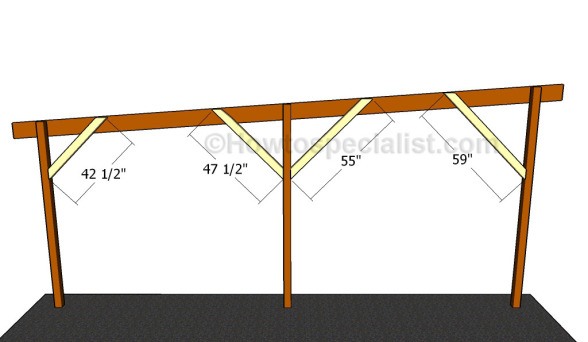Flat roof double carport plans howtospecialist how to for Flat roof plan drawing