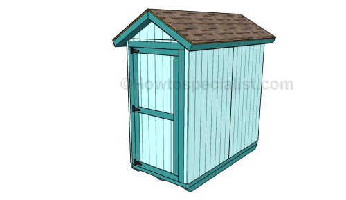 How to build a 4x8 shed
