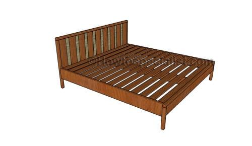 Stunning King platform bed plans