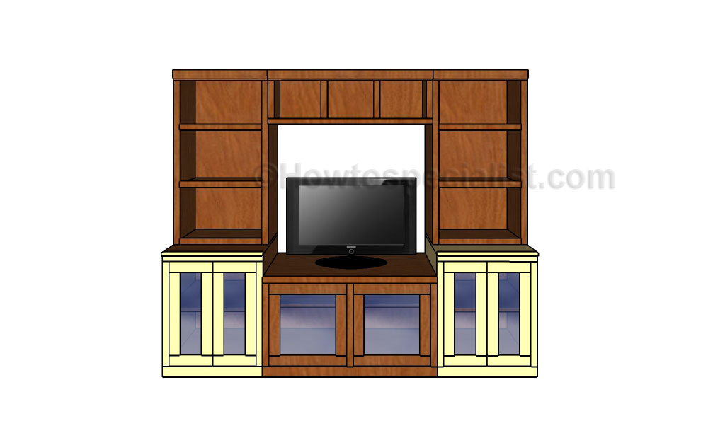 Wall entertainment center plans