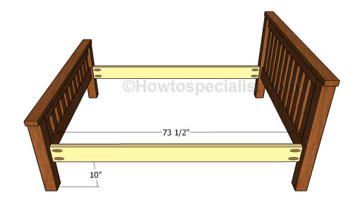 Assembling the frame of the bed