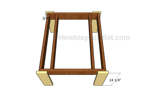 Assembling the frame of the table
