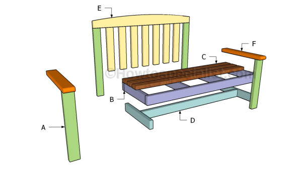 Fabulous 2X4 Bench Plans Howtospecialist How To Build Step By Pabps2019 Chair Design Images Pabps2019Com