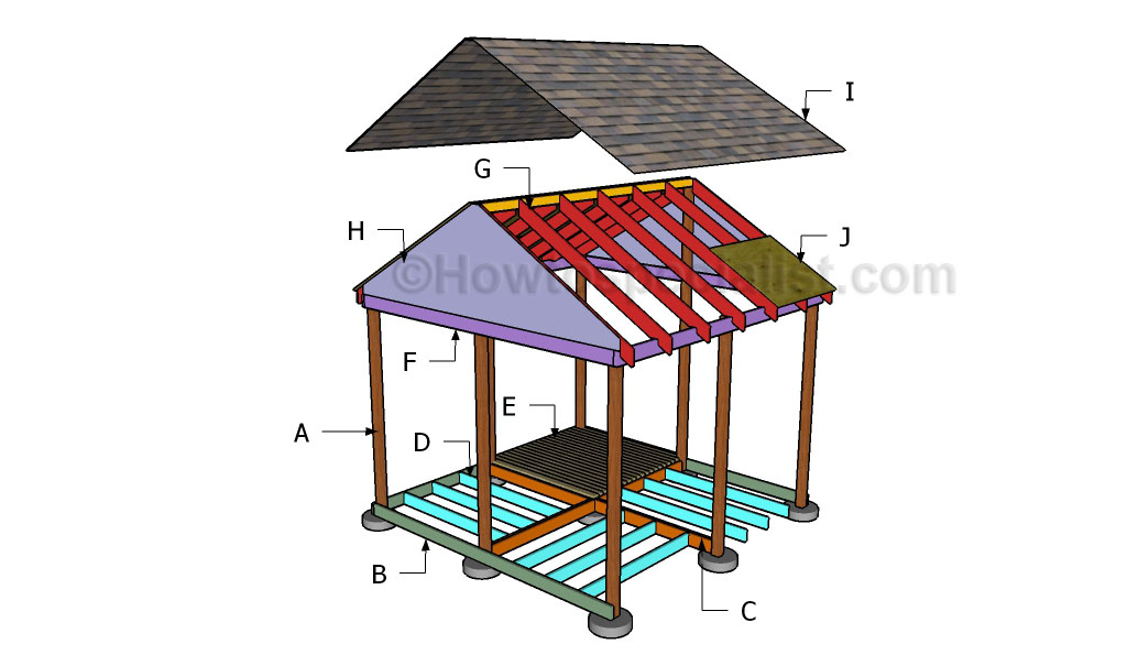 Building a square gazebo